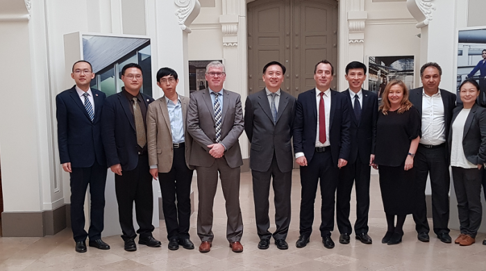 Shanghai delegation visiting Arts et Métiers in November 2018